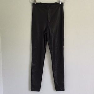 American Apparel faux leather high waisted pants